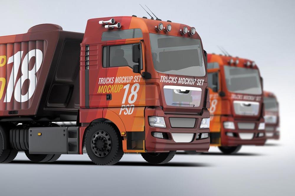 Trucks Mockup