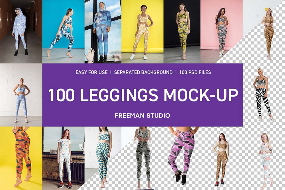 100 Leggings MockUp