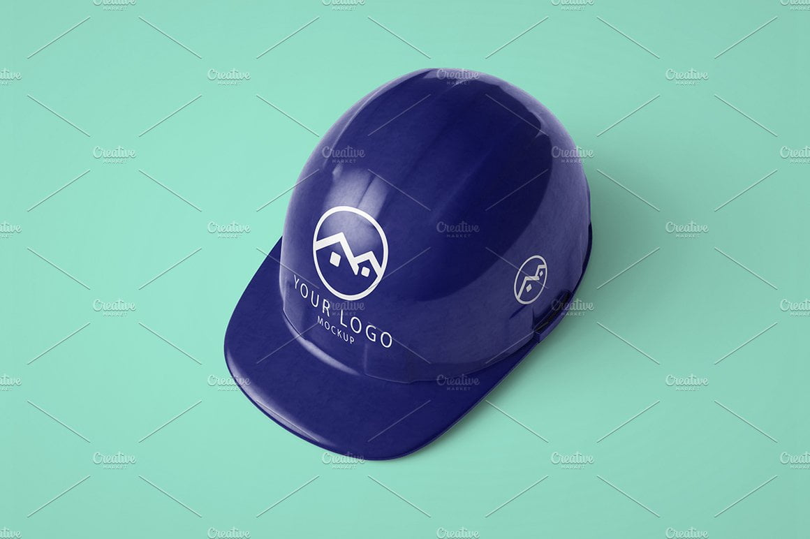 Construction Helmet Hat Mockup