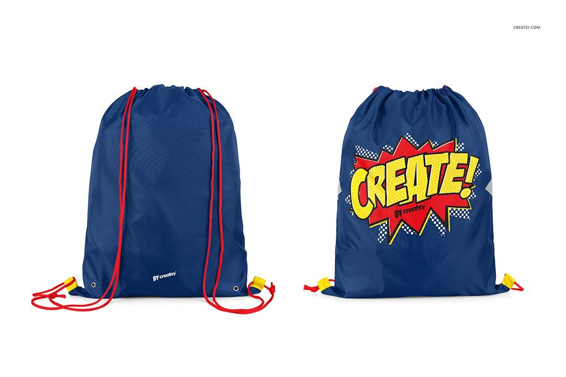 Drawstring Backpack Mockup Set