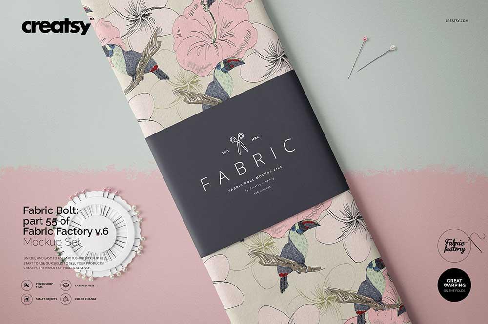 Fabric Bolt Mockup