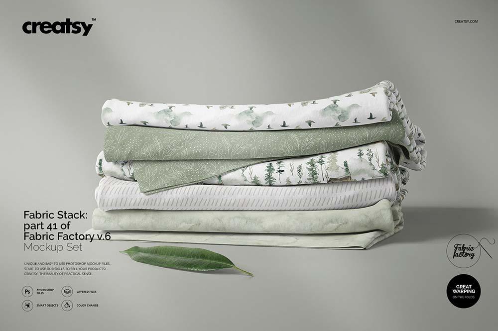 Fabric Stack Mockup