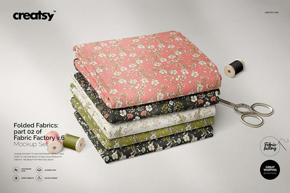 Folded Fabrics Mockup