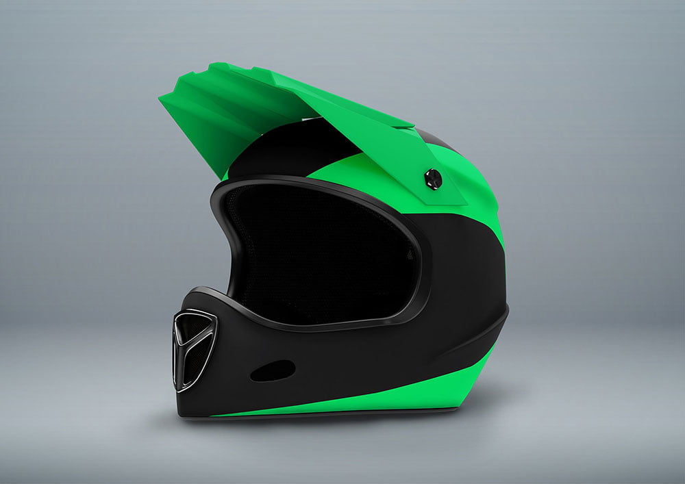 Fullface Motorcycle Helmet Mockup