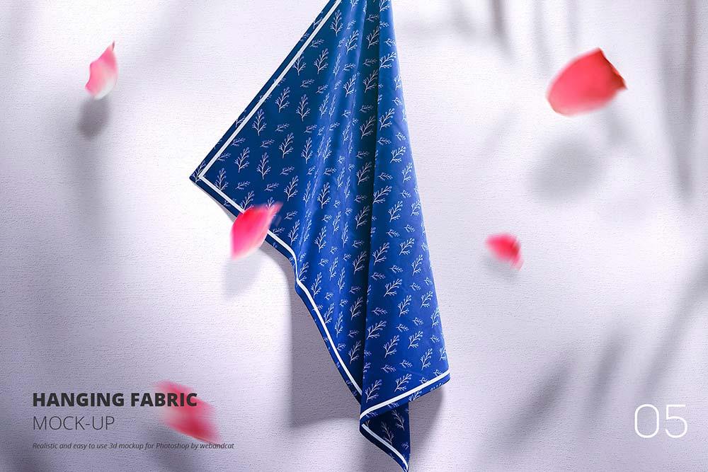 Hanging Fabric Mockup