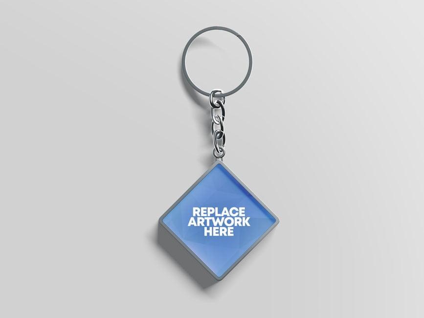 Keychain Mockup PSD templates