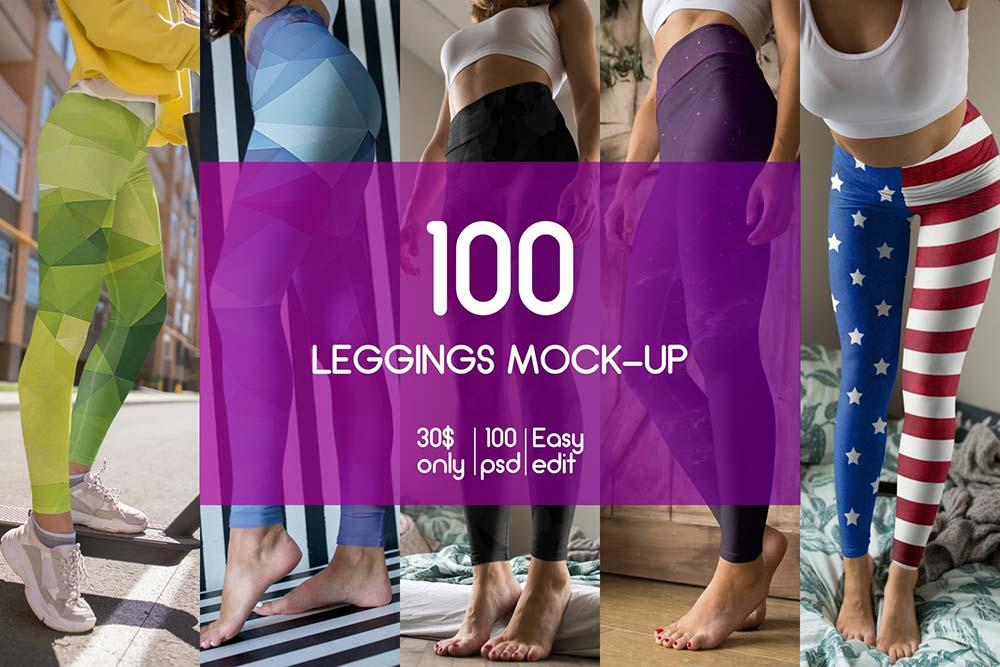 100 Leggings MockUp