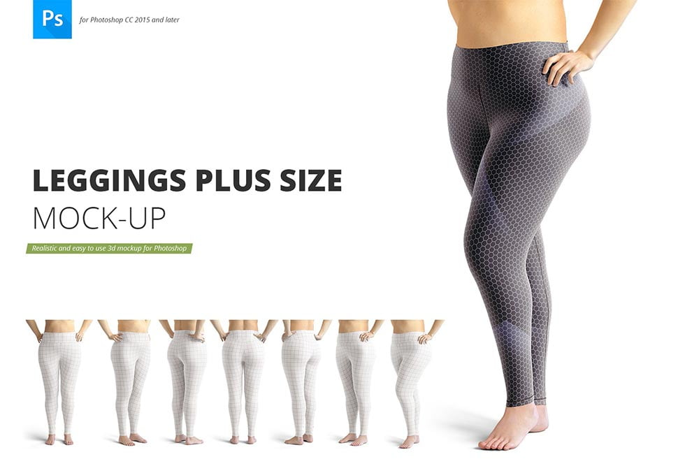 Leggings Plus Size Mockup