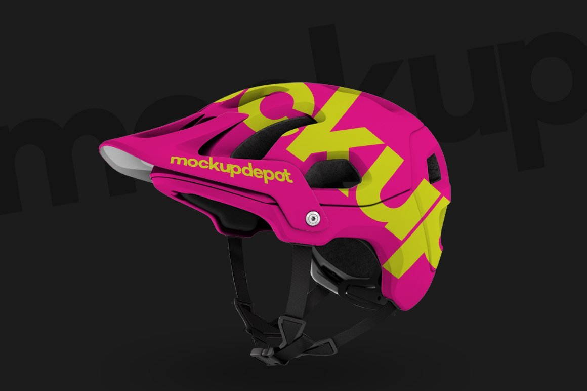 Mountain Bike Helmet PSD Mockup