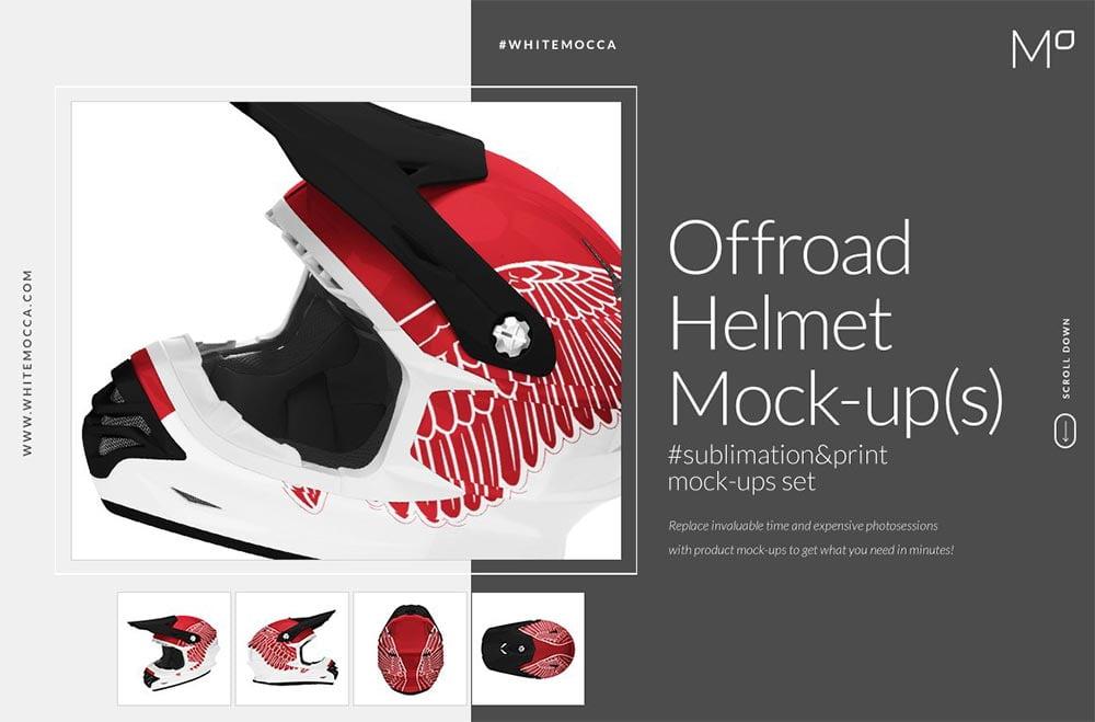 Offroad Sport Helmet Mock-ups Set