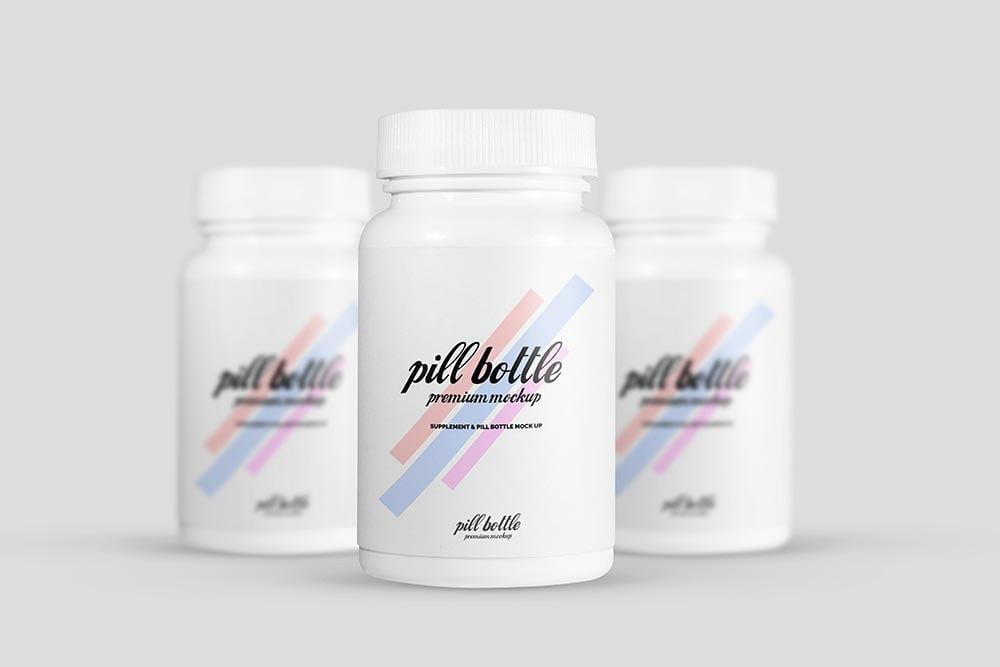 Pill Bottle Mockup