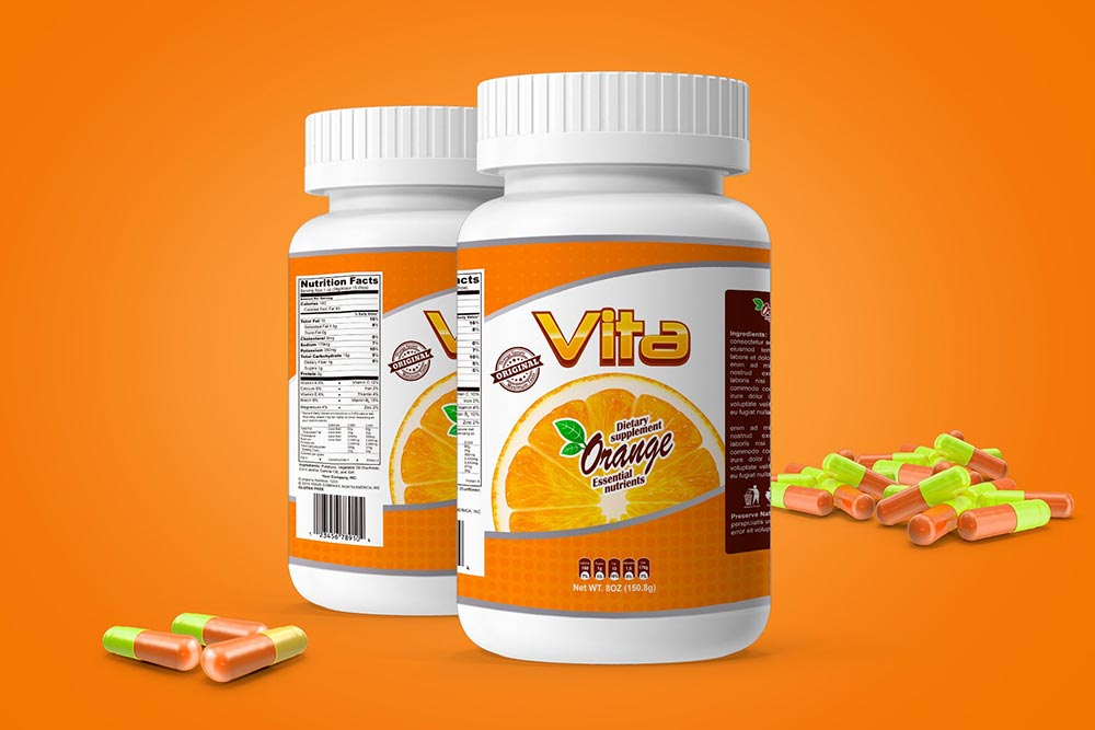 Pills Botle Vitamin Mockup