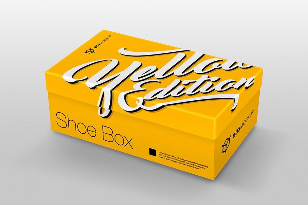 Shoe Box Mockup PSD Templates
