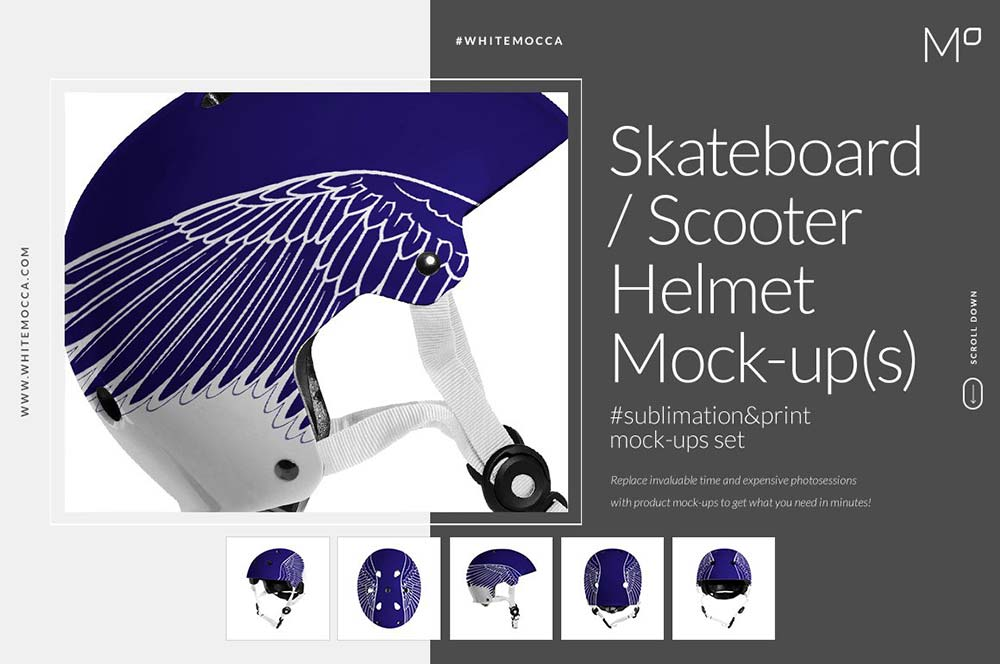 Skateboard / Scooter Helmet Mock-ups