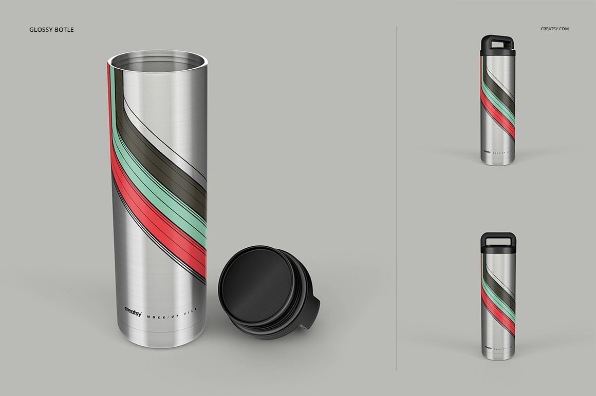 Stainless Steel Tumbler 18oz Mockup