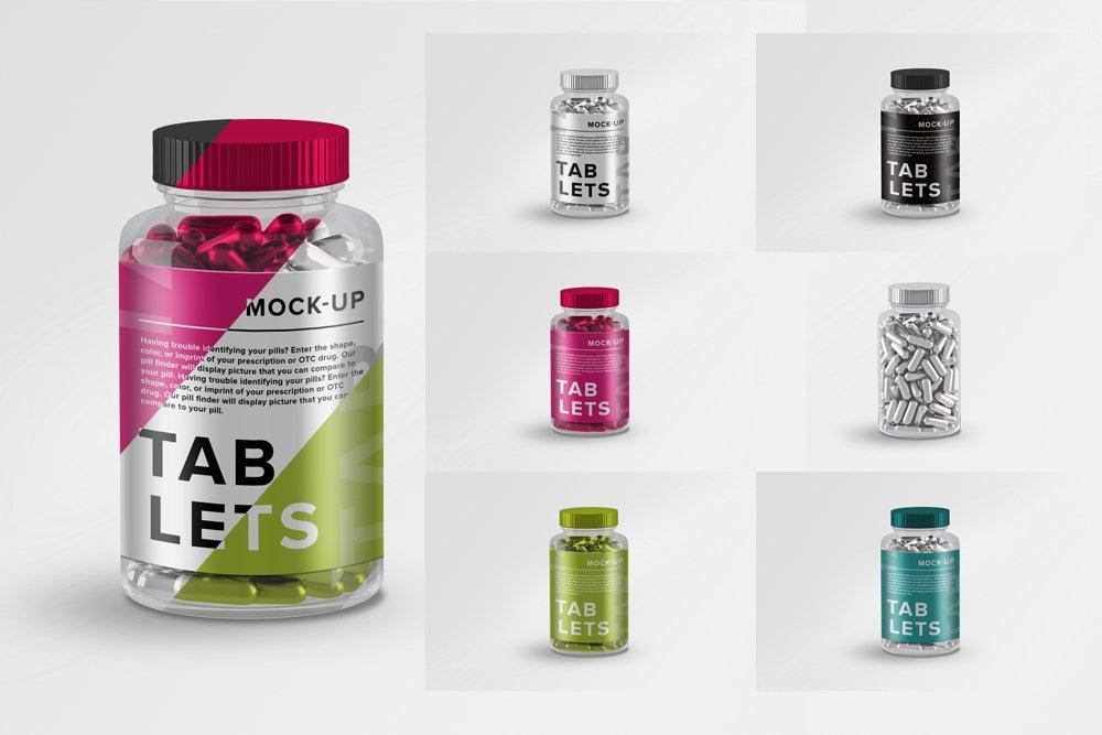 Vitamins Tablets Pills Bottle label