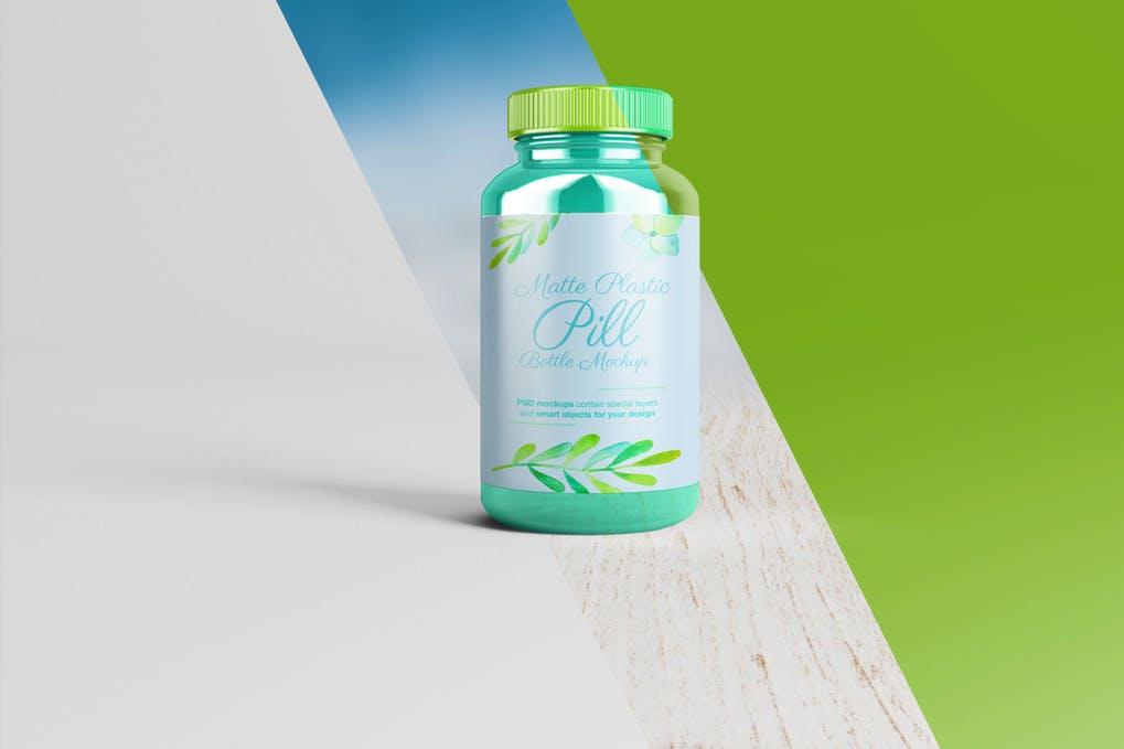 Amber Pill Bottle Mockup