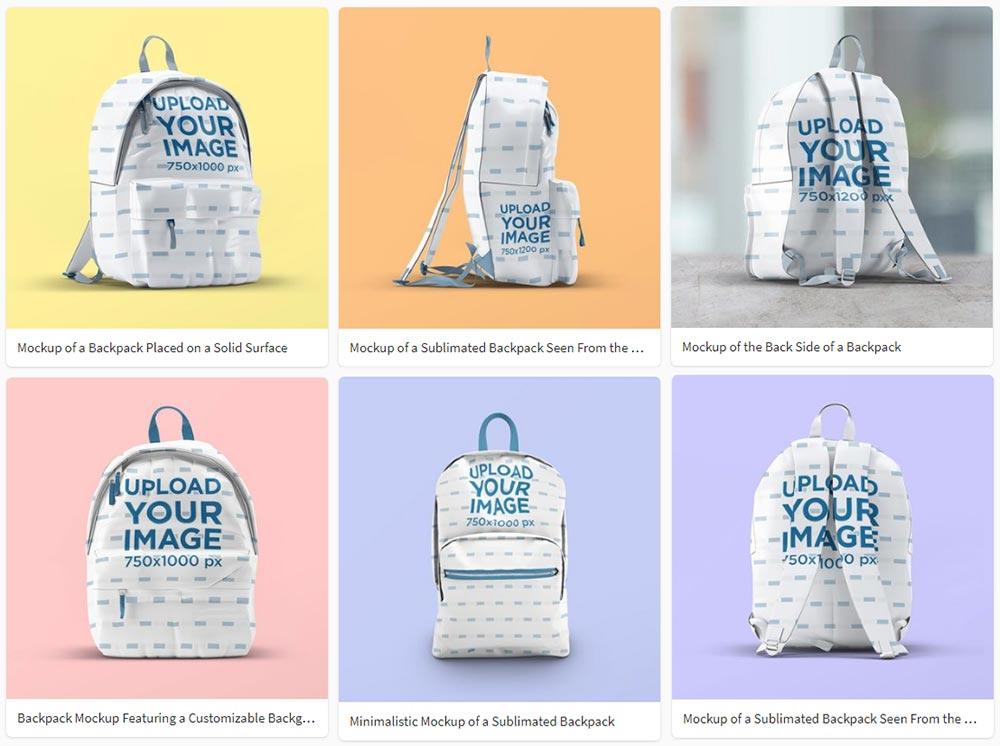 best Backpack Mockup