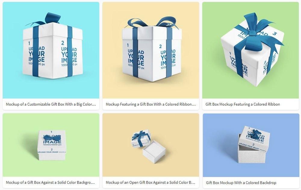 best Gift Box Mockups