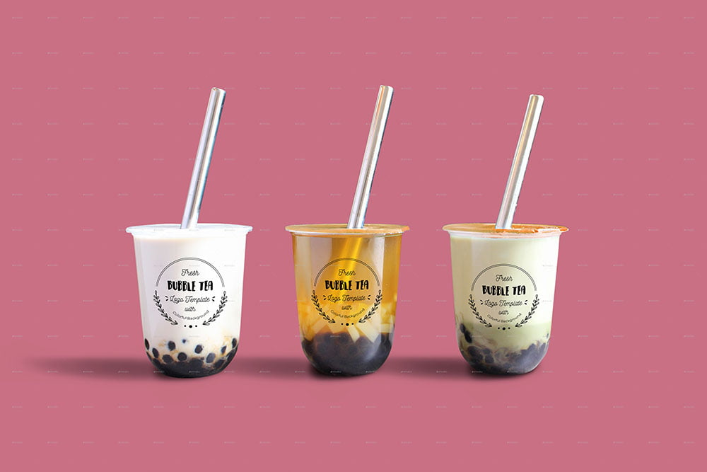 Bubble Tea PSD Mock-up