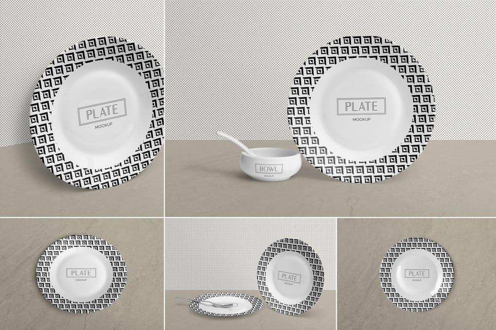 Ceramic Plate Mockups
