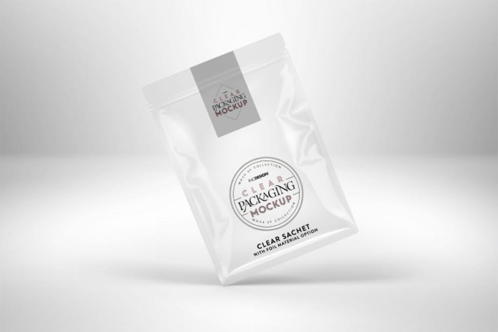 Foil Sachet Packaging Mockup