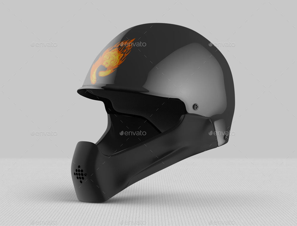 Full Face Helmet Mockup