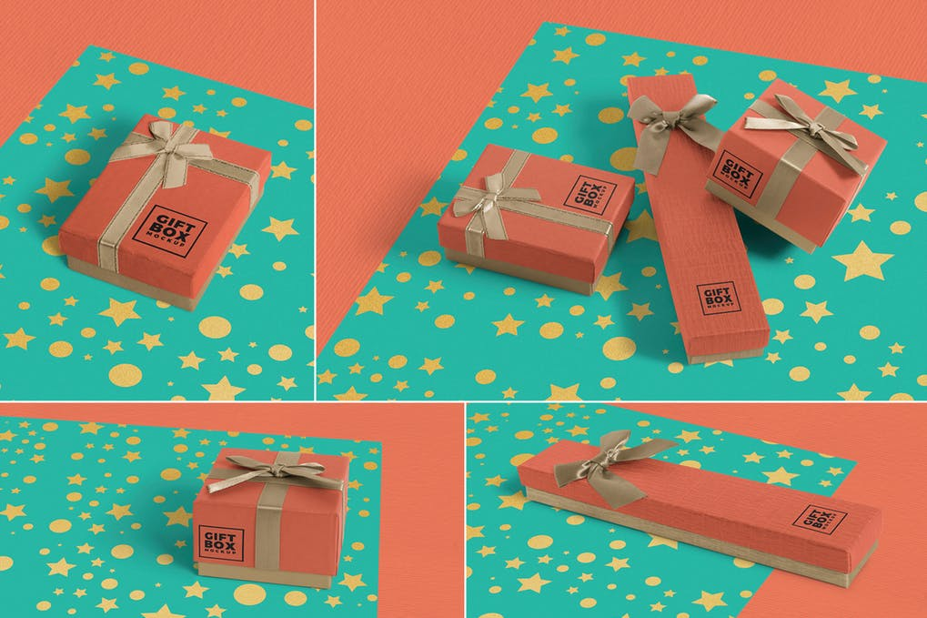 Gift Box Mockups