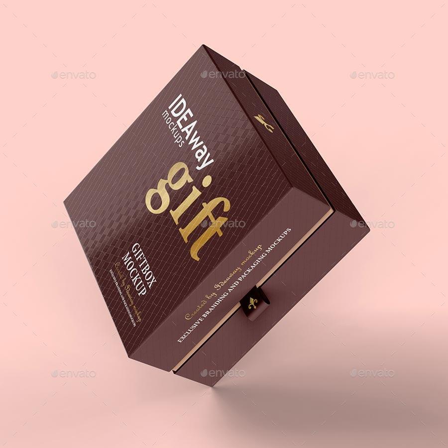25 Gorgeous Gift Box Mockup Psd Templates Mockuptree
