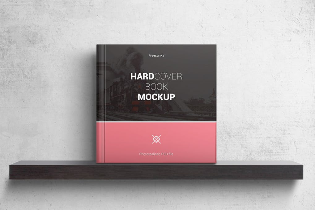 Hardcover Square Book Mockups