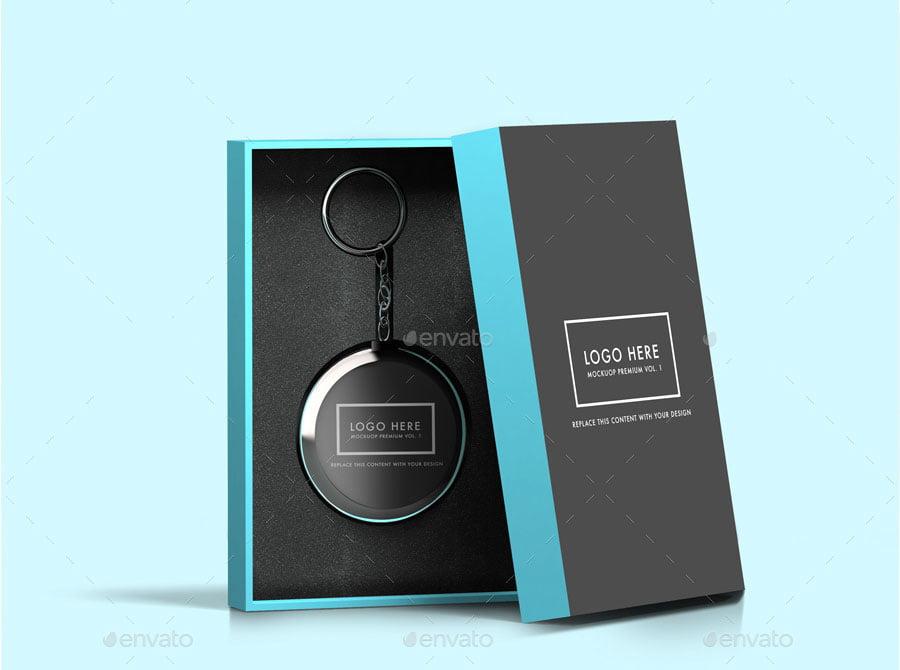 Keychain Box Mockup