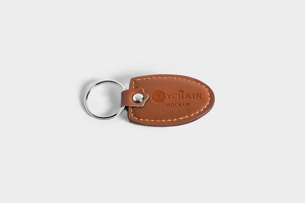 Leather Keychain Branding Mockups