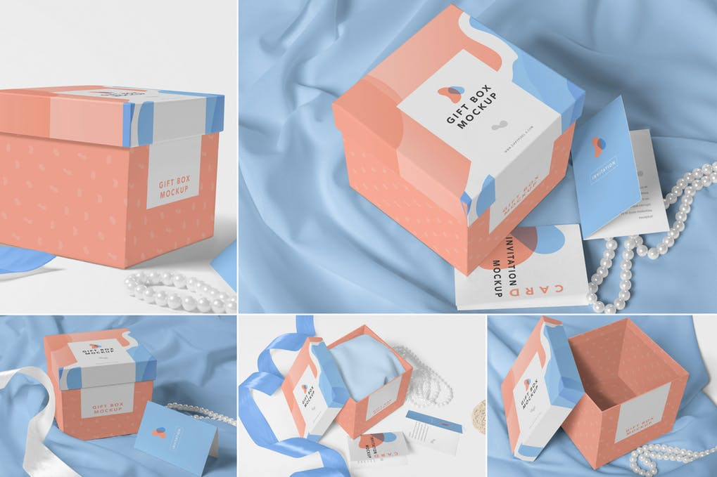 Luxury Gift Box Mockups