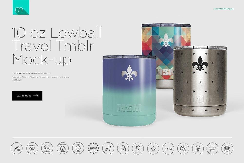 10 oz Lowball Tumbler Mock-up
