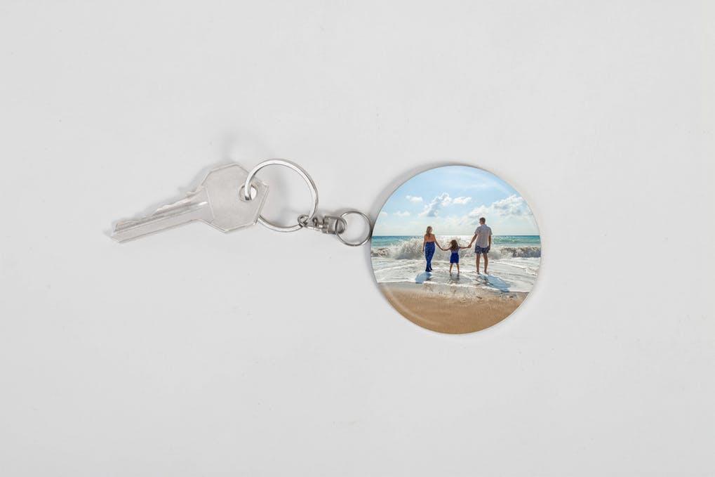 Photo Keychain Mockup