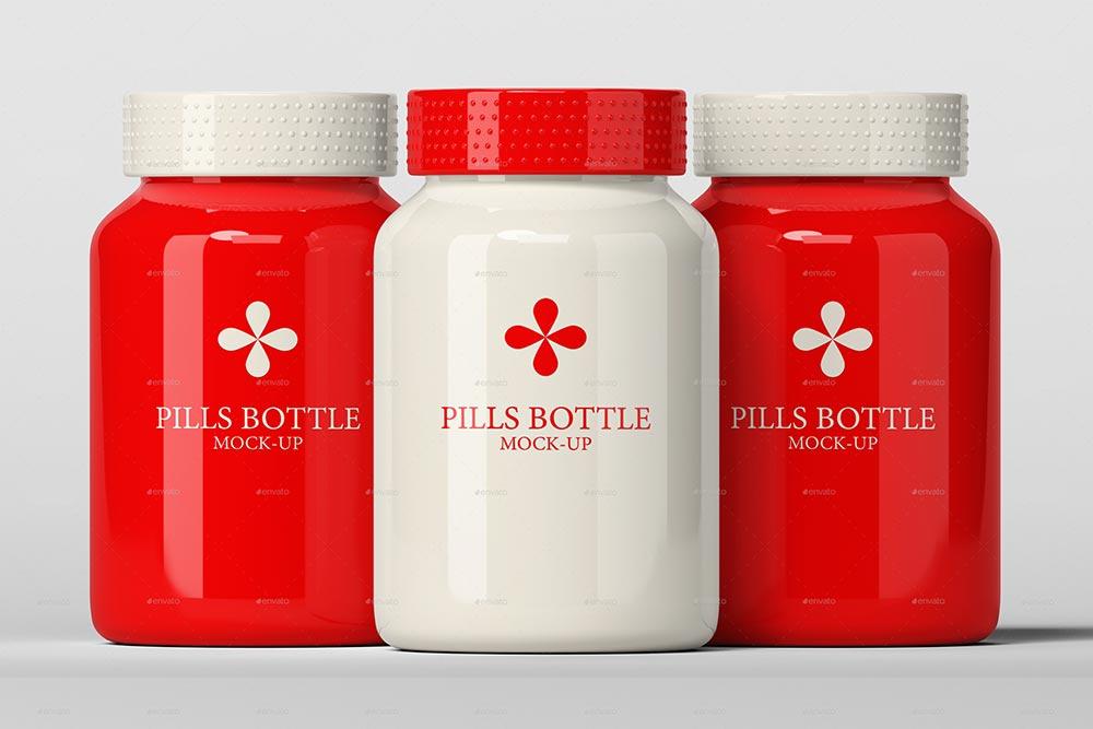 Pills Bottle Mockup PSD Templates