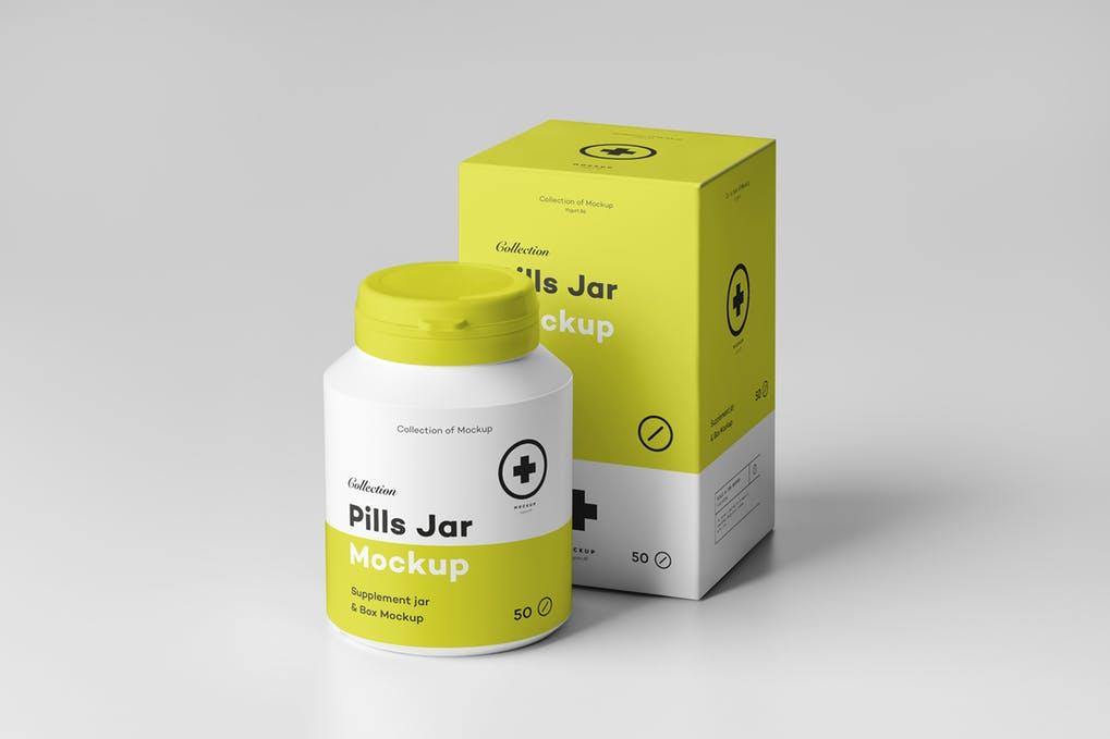 Pills Jar Mock-up