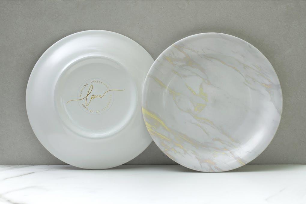 Porcelain Plate Mockup