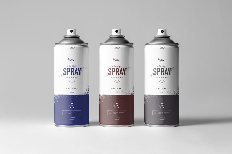 Spray Bottle Mockup Templates