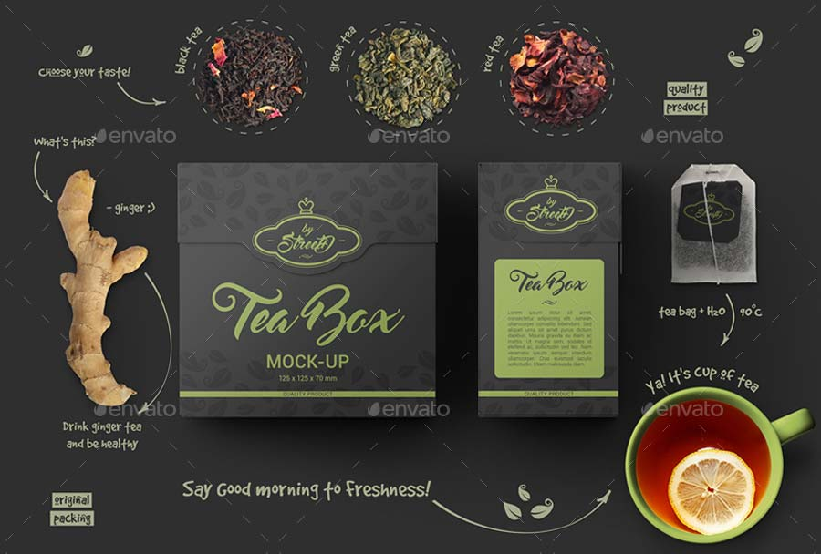 Tea Box Mock-Up
