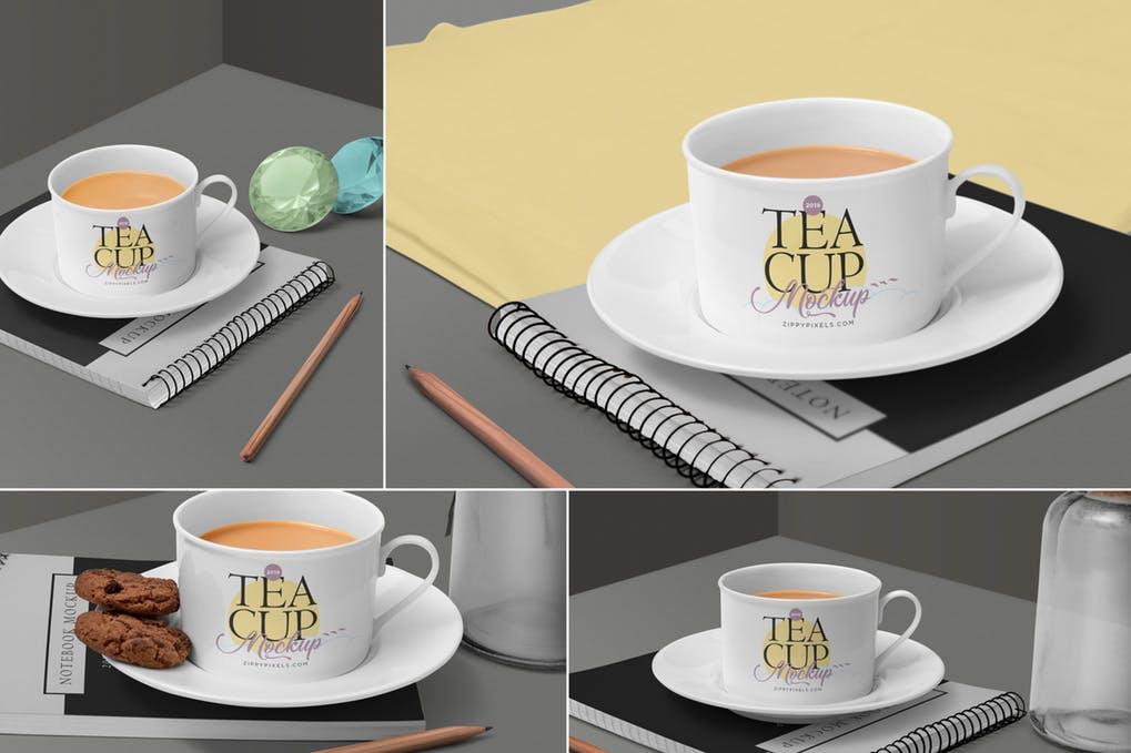 Tea Cup Mockup Scenes