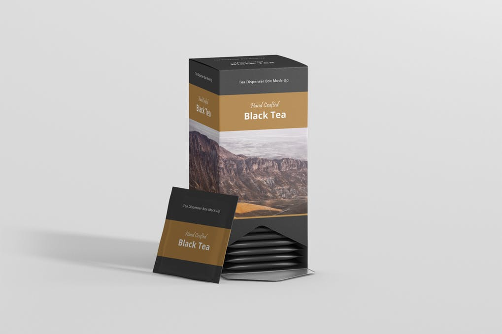 Tea Dispenser Box Mockup