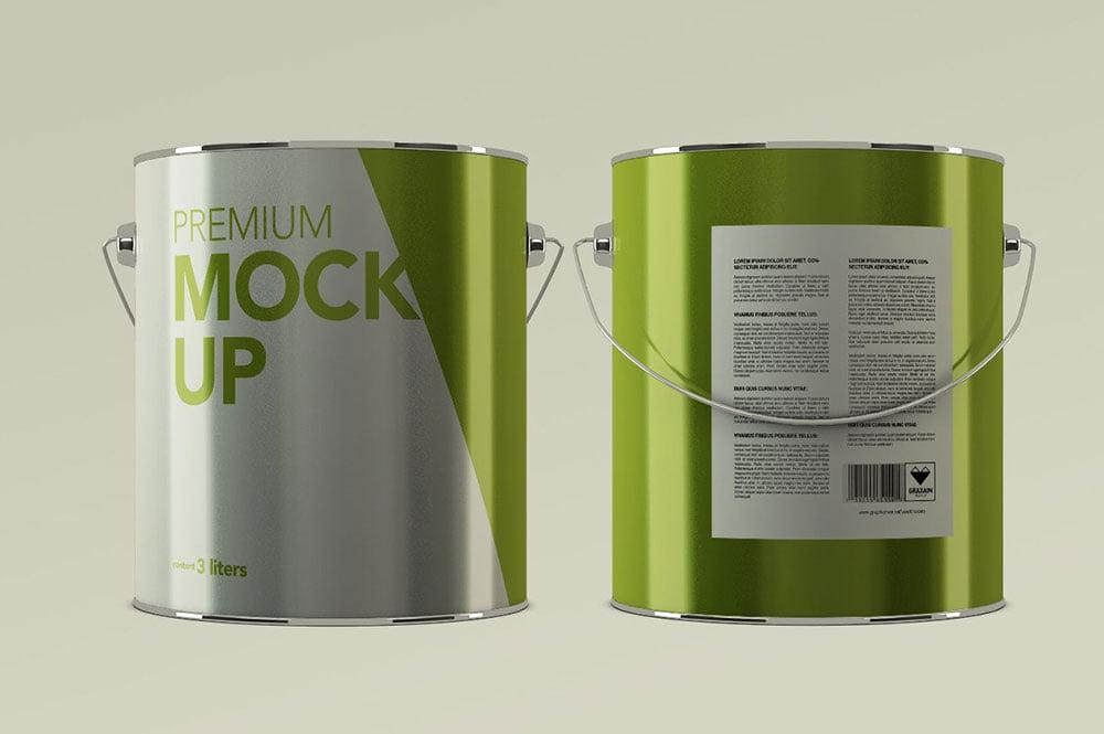Aluminium Paint Mockup