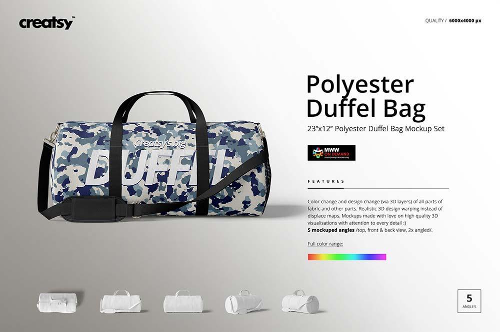 Duffel Bag Mockup Set