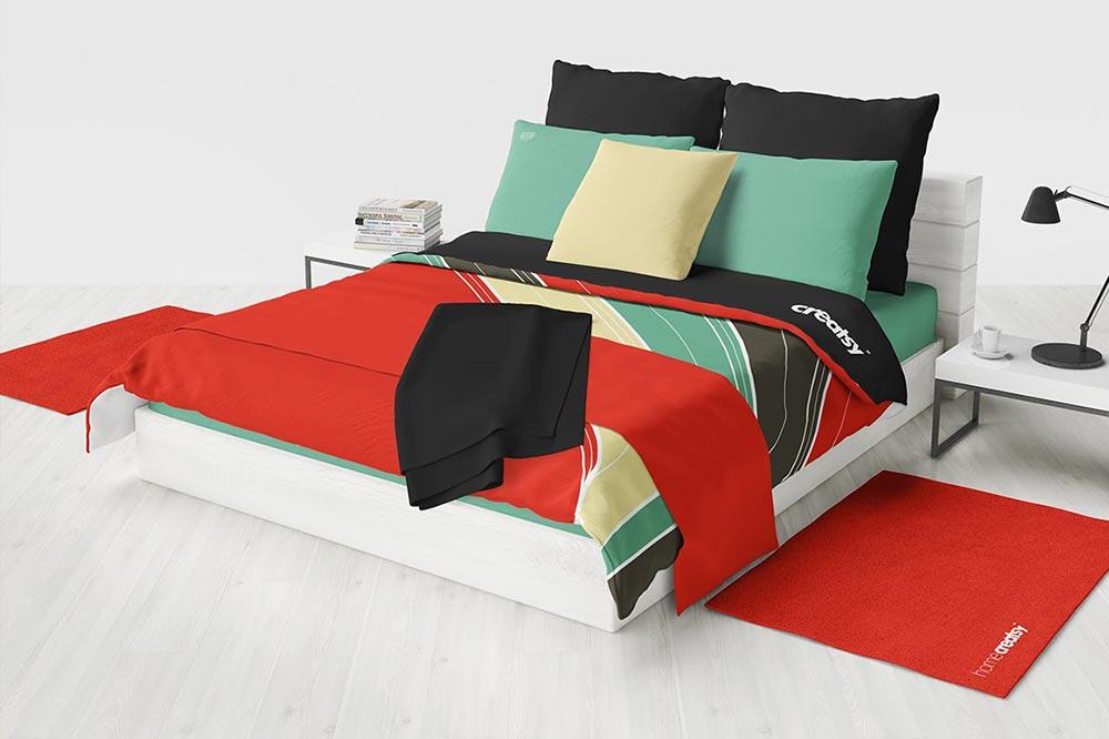 Bedding Bedroom Mockup Set