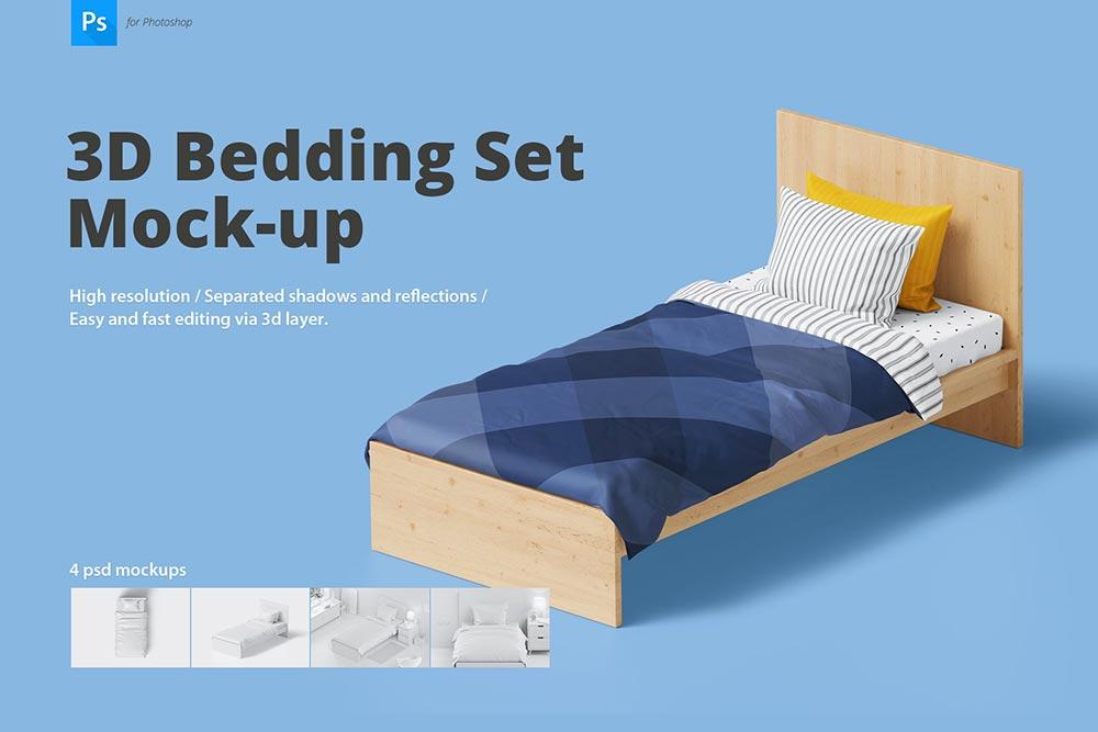 Bedding Set Mockup