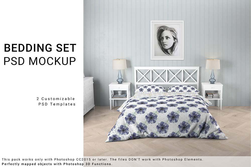 Bedroom Set -Bed Linen Floor & Wall
