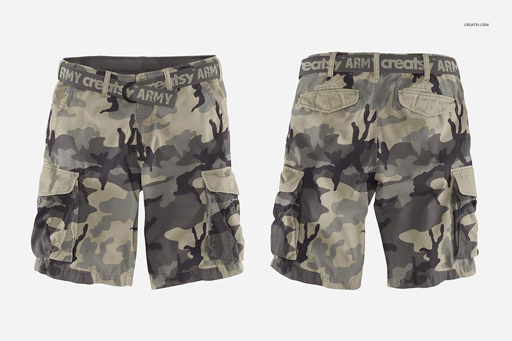Cargo Shorts Mockup Set