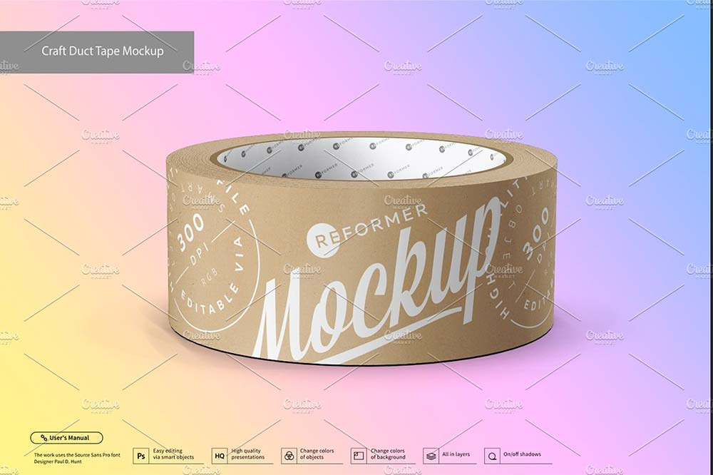 Craft Duct Tape Mockup