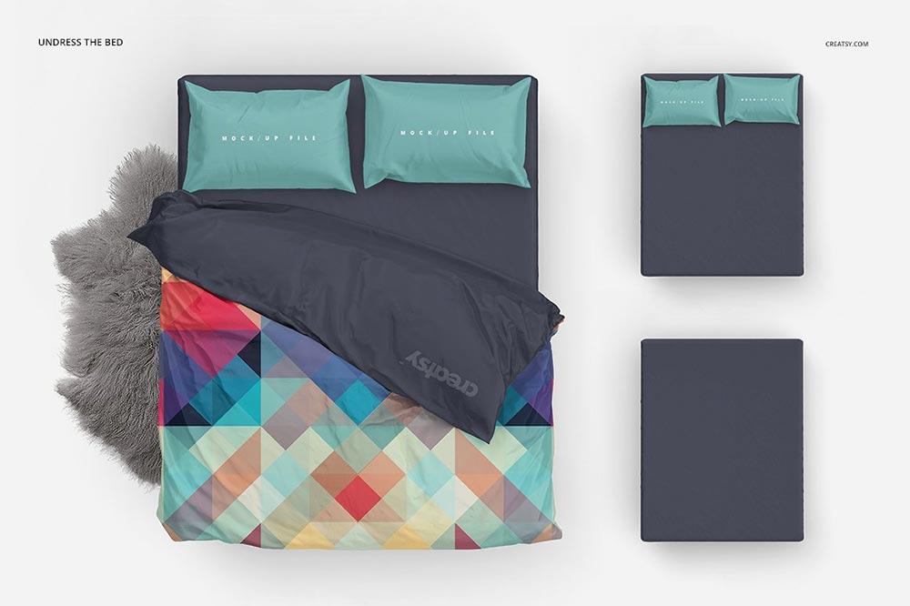 Single Bed Bedding Mockup